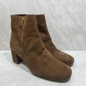 J. Crew Brown Suede Ankle Boots
